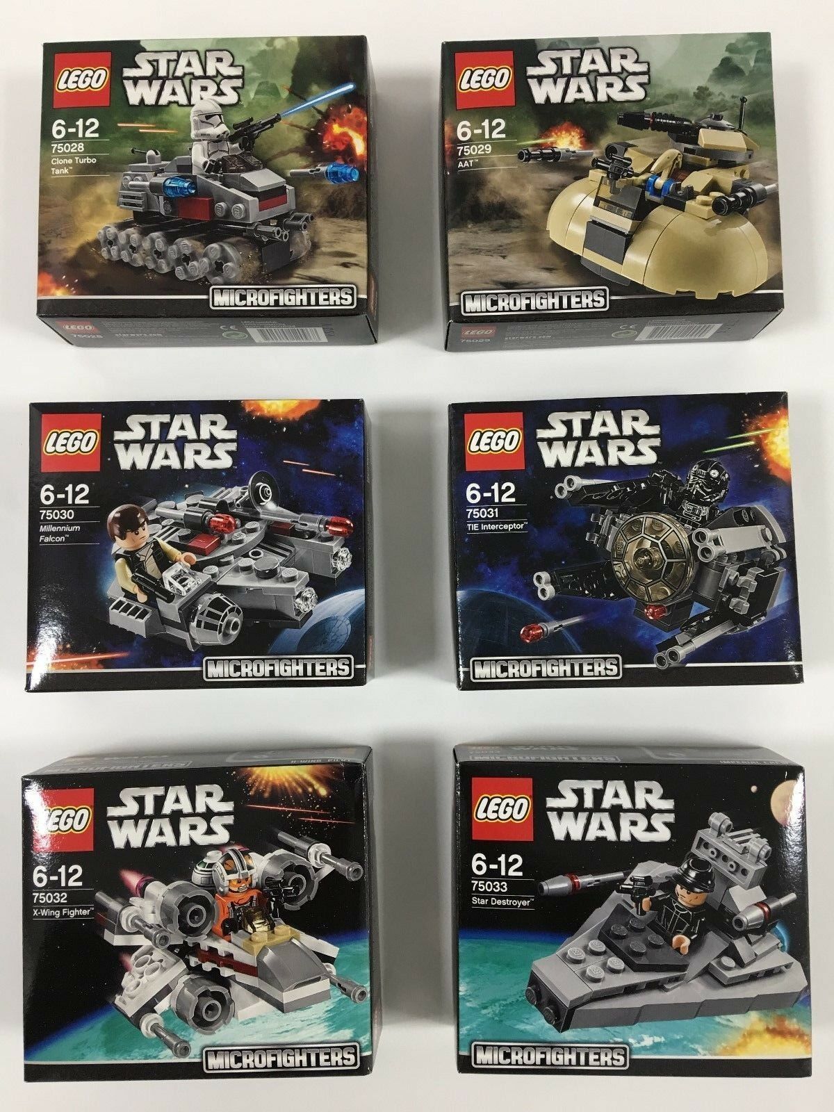 Lego Star Wars Microfighters Series 1 Full Set -  New & Factory Sealed