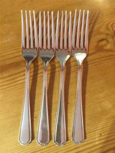 4 X Vintage Insignia Silver Plated EPNS Grecian Pattern Table Forks 20cm A1