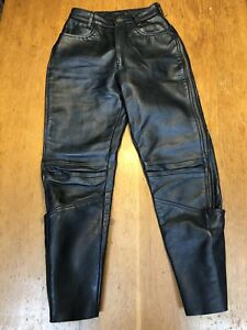 VANSON-Leathers-Motorcycle-Riding-Leather-Pants-Chaps-28-30-USA