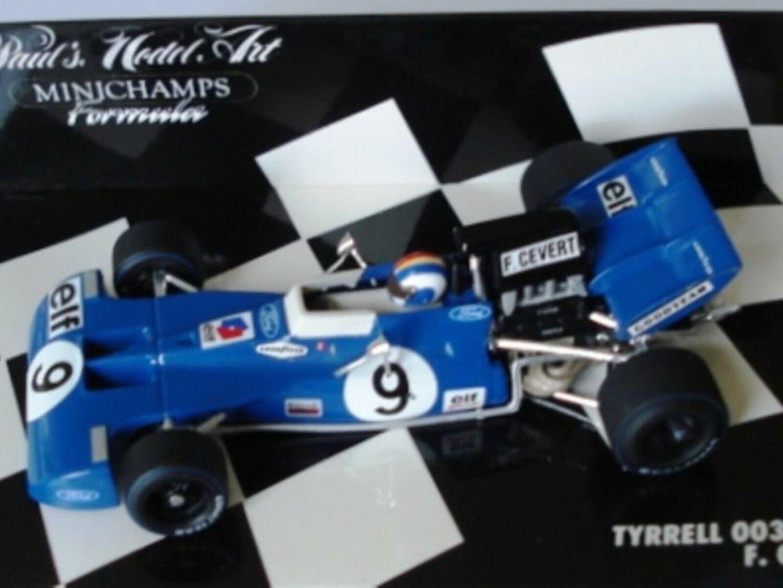 WOW estremamente raro TYRRELL 003 FORD  9 CEverde WINNER GP USA 1971 1 43 Minichamps