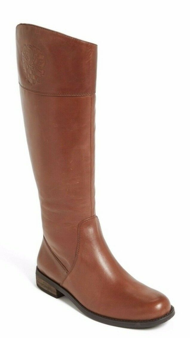 Vince Camuto Femme kellini Tall bottes, cuir marron moka Taille 6