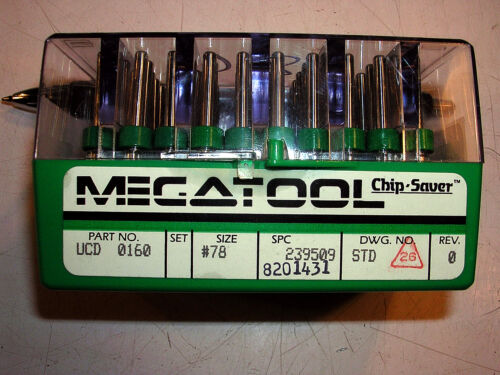 LOT OF 50 MegaTool RING SET Micro Carbide PCB Drill Bits #78