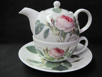 Redoute Rose Tea For One, By Roy Kirkham, Fine Bone China, Made In England.