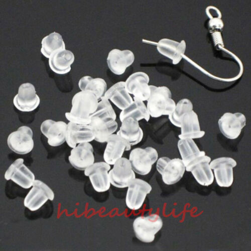 Wholesale 1000PCS  Rubber Earring Back Stoppers Ear Post Nuts 4MM New hi