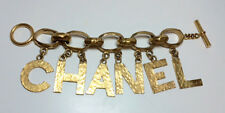 Authentic Chanel Vintage Enormous Block Letter C H A N E L Stmt Bracelet