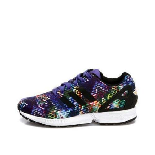 Womens ADIDAS ZX FLUX Purple Snake Casual Trainers S77433