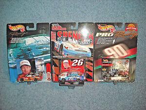 3-NASCAR-1-64-DIECAST-STOCK-CAR-RACECARS-ELLIOTT-SPENCER-TRICKLE-NEW-ON-CARD