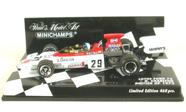 memorizzare Lotus FORD 72 no. no. no. 29 British GP 1972 (Dave Charlton)  Ultimo 2018