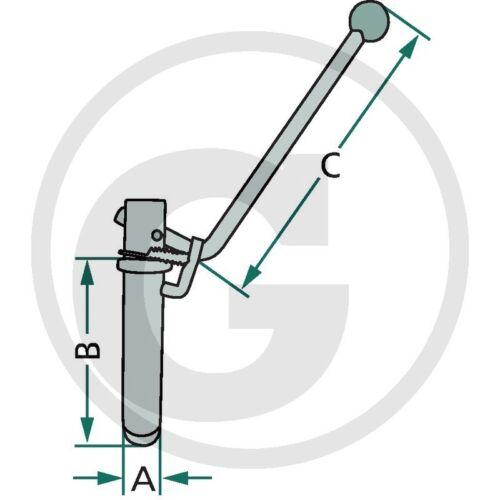 Kupplungsbolzen mit Kippsicherung/_Bolzen/_AHK/_31x145x250mm