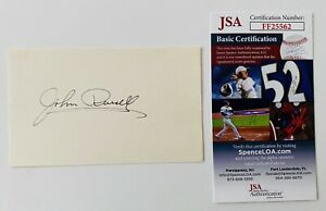John Russell Signed Autographed 3x5 Card JSA Lawman Soldiers of Fortune