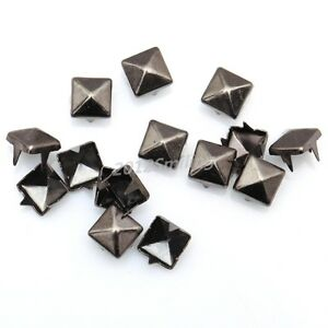 200pcs-Gun-Black-Pyramid-Shape-Metal-Studs-Spike-Rivet-For-Diy-Leathercraft-6mm