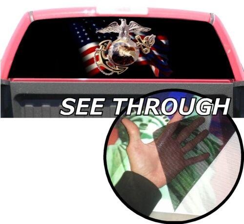 P35 U.S Marines Rear Window Tint Graphic Decal Wrap Back Pickup Graphics