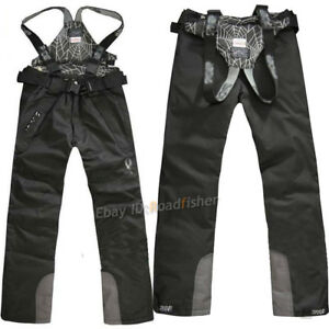 2019-New-Men-Sports-Wind-Waterproof-Ski-Snow-Pants-Overalls-Trousers-Salopettes