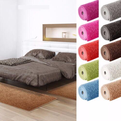 Bettumrandung 3-teiliges Teppich-Läuferset Blüten-Motiv Blumen Schlafzimmer