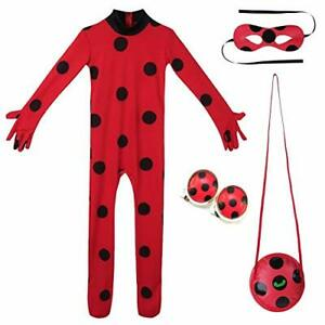 Halloween 3er Kostuem.Ladybug Marienkafer Kostum Kinder Halloween Overall Party Cosplay 3er Set Ebay