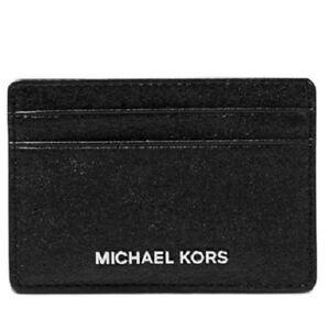 15b4e84290cf NWT MICHAEL Michael Kors Money Pieces Card Holder Black 191935109149 ...