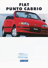 Fiat Punto Cabrio Prospekt 2/94 8 S. brochure 1994 Auto PKWs Broschüre Italien