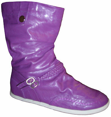 Slouchstiefel Stiefel Gummistiefel Schuhe Boots lila violett lavendel 36 37 38