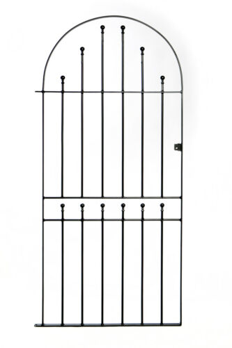 Wrought Iron Metal Arched Ball Tall Garden Gate 3ft 1880mm x 6ft2 SBT5 915mm