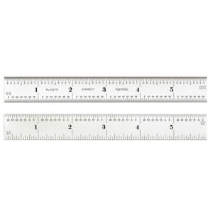 Starrett CD604R-6 Spring-Tempered Steel Rule with Inch Graduations