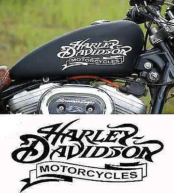Harley Davidson Tank Aufkleber in Weiss Matt 22 cm breite Top Neu ...