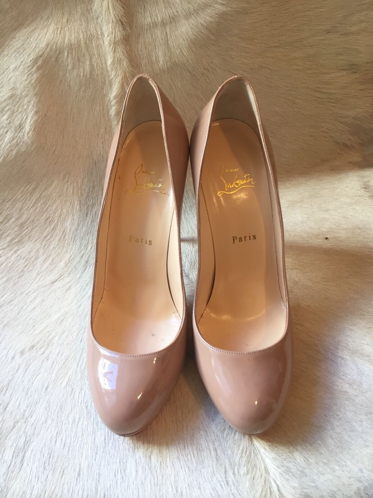 Irresistible Christian Louboutin Nude New Simple 120 Patent  Heels Leder Heels  40 NEW fb2cd3