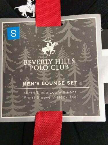 Men/'s Beverly Hills Polo Club Lounge Set Sleep Pants Size Small Black Plaid NEW