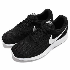 Wmns Nike Tanjun Black White NSW Sportswear Womens Running Shoes 812655011