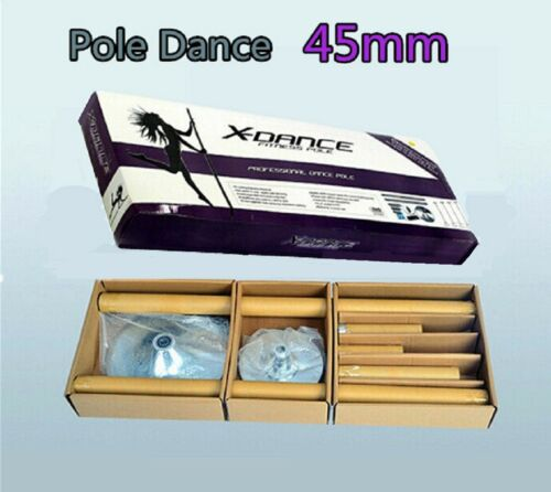 X Dance Pole Gold Exotic Static Spinning Portable 9 FT Pole Dance Fitness Pole