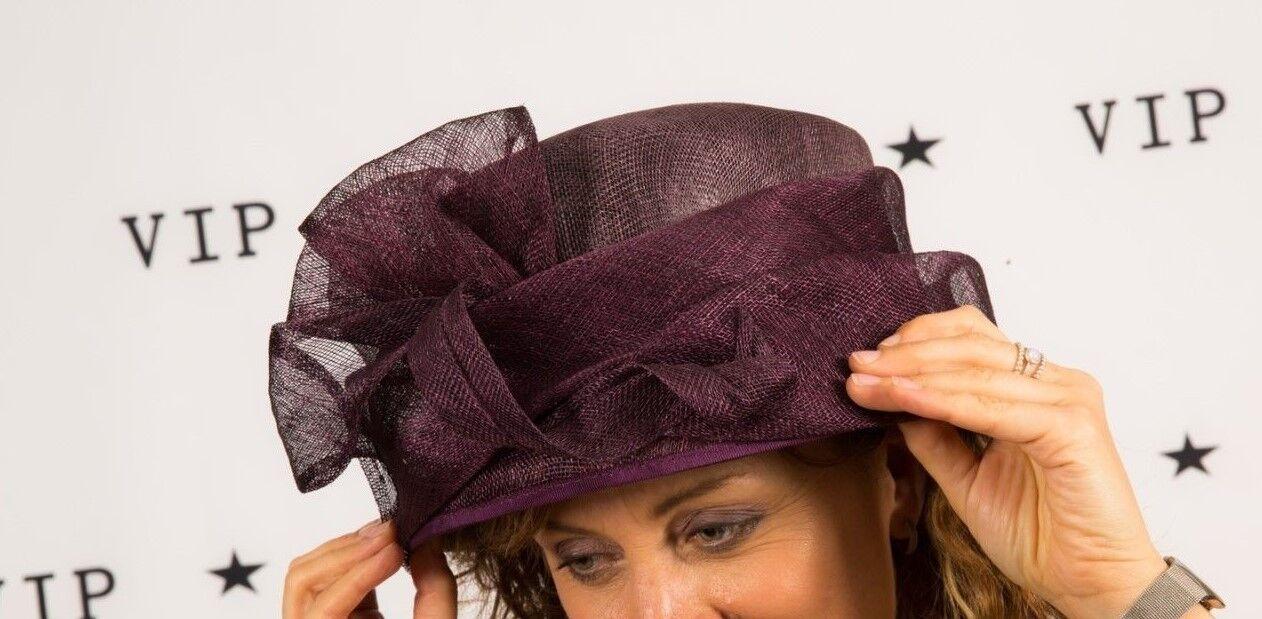 2 tone purple formal hat Failsworth Millinery Wedding races Christening