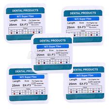 5 Kits Dental Endodontics NiTi Endo Motor Handstück Protaper Rotary File SX-F3