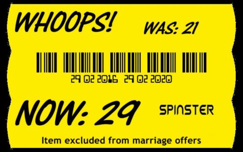 Whoops  Asda Special offer Out Of Date birthday T Shirt Vest Top funny comic M