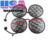 "5-3/4"" HID LED CREE LIGHT BULBS CRYSTAL CLEAR SEALED BEAM HEADLIGHT LAMP 2 PAIRS"