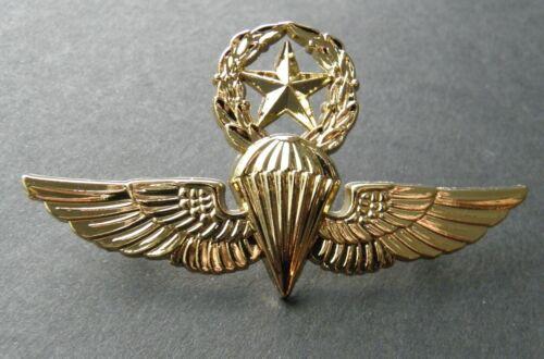 USMC USN PARATROOPER MASTER JUMP WINGS LAPEL PIN BADGE 2.75 INCHES PARA