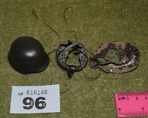 1-6-SCALE-WW-II-GERMAN-HELMET-amp-COVER-FOR-DRAGON-IN-DREAMS-DID-BBI-FIGURES-096