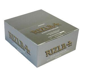 10x-320-RIZLA-SILVER-KING-SIZE-SLIM-CIGARETTE-SMOKING-ROLLING-PAPERS-ORIGINAL