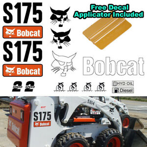 Details about Bobcat S175 Skid Steer Set Vinyl Decal Sticker 16 PC SET +  FREE DECAL APPLICATOR