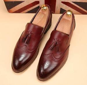 Tassel Lace Up Wingtip Shoes