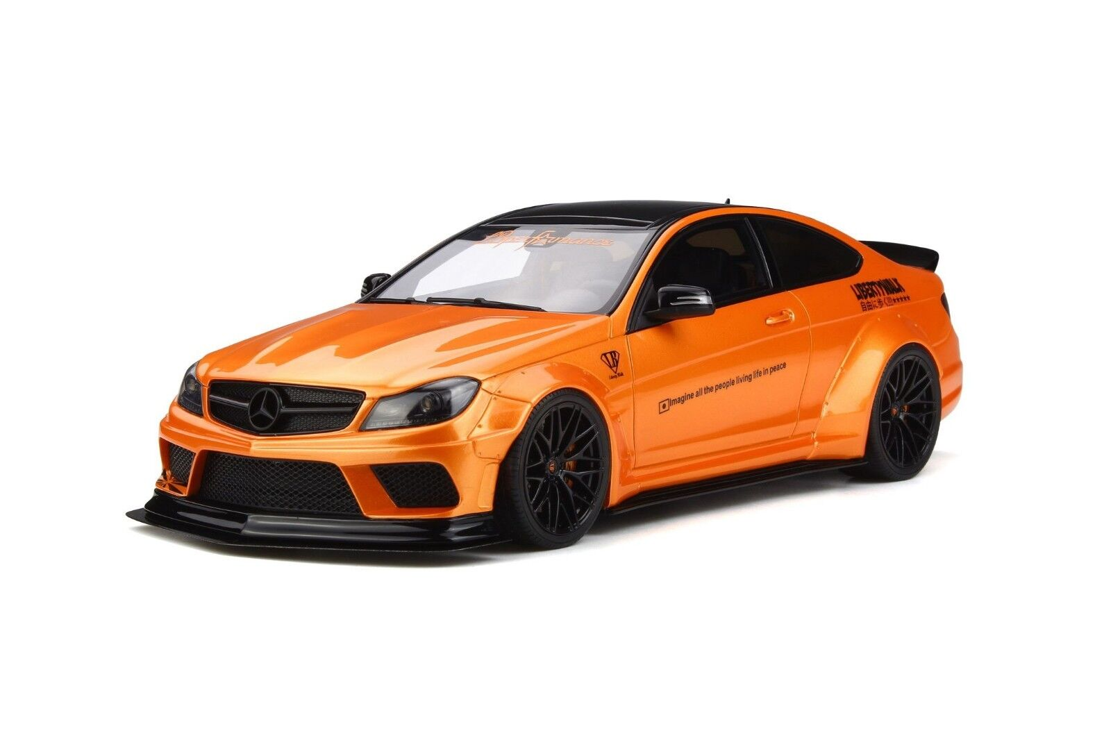 GT Spirit 1 18 Mercedes C63 LB Works 2017 Metallic orange GT215