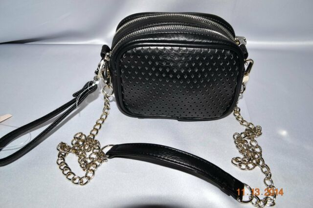 Victorias Secret Pink 2 in 1 Cross Body & Wristlet Chain Purse Bag Faux Leather