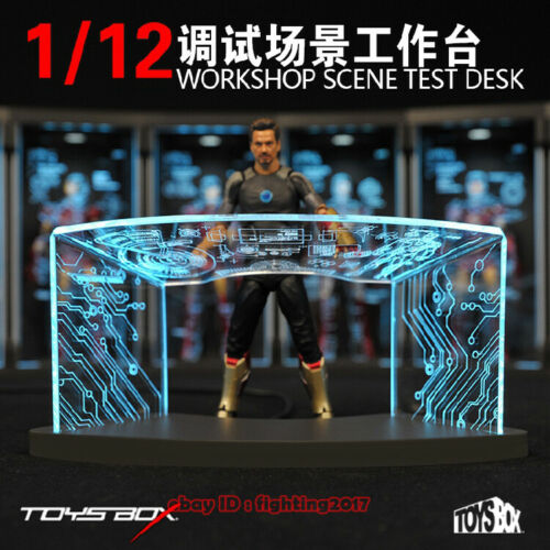 TOYS-BOX 1//12 Comicave SHF Workshop Scene Test Desk Fit Iron Man Figure Model