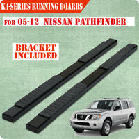Fit 05-12 Nissan Pathfinder 4 Running Board Nerf Bar Side Step Blk H