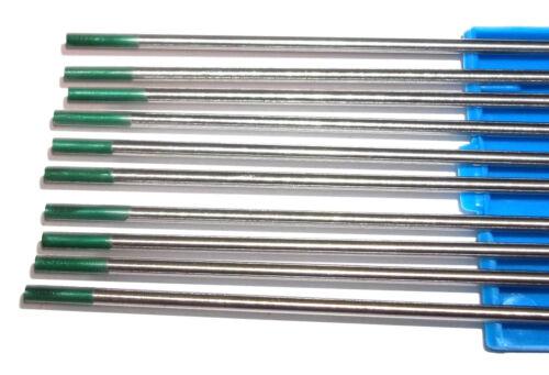 10 x elettrodo al tungsteno W//Wp Verde WIG-aghi ago tungsteno Tungsteno aghi