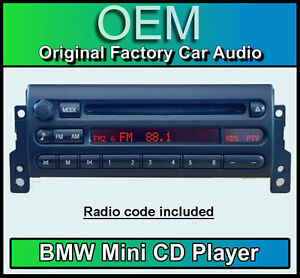 bmw mini cooper s cd player mini cd53 car stereo mini r50. Black Bedroom Furniture Sets. Home Design Ideas