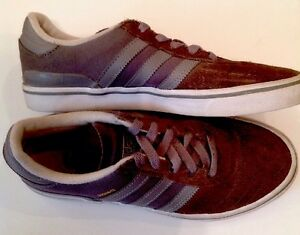Image is loading ADIDAS-Busenitz-Gray-amp-Gold-Suede-Shoes-Size- e12387977b