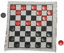Jumbo Checker Rug Game Checkers Mat Large Kids Adults Hobbies Fun Outdoor Indoor