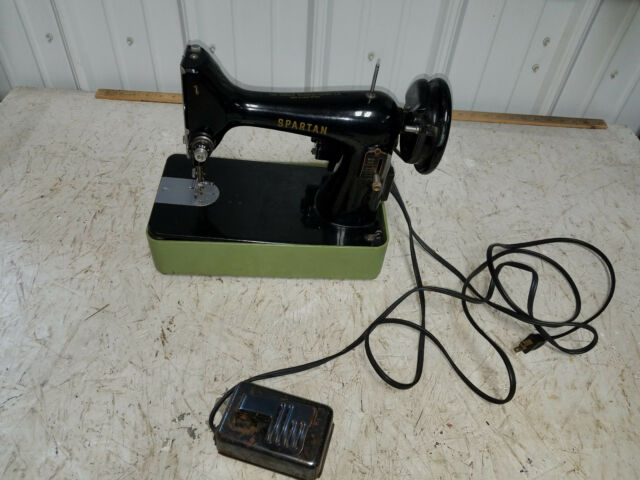 Vintage Spartan SINGER Sewing Machine With Green Case Made In Great Beauteous Antique Singer Sewing Machine Parts Ebay