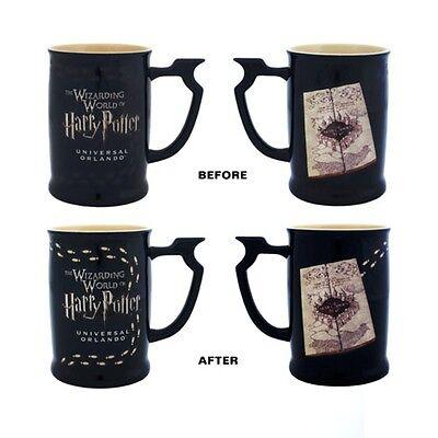Wizarding World Of Harry Potter Marauder's Map Heat Reactive Coffee Mug New!