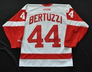Details about TODD BERTUZZI #44 DETROIT RED WINGS CCM VINTAGE JERSEY WHITE SEWN MEN M