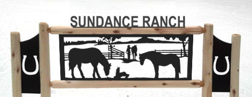 HORSES-CLINGERMANS OUTDOOR HORSE SIGNS - RODEO